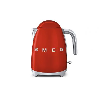 Electric Kettle 50's red painted stainless steel