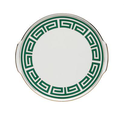 Labirinto Smeraldo Cake Plate with Handles Ø 31,5 cm