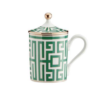 Labirinto Smeraldo Mug with Lid 400 CC