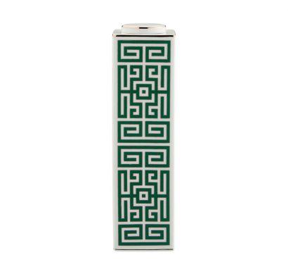 Labirinto Smeraldo High Rectangular Vase with Lid H. 30