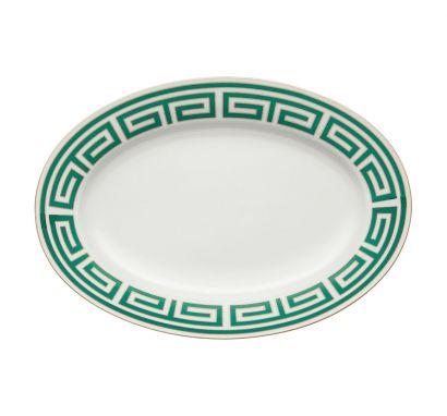 Labirinto Smeraldo Oval Tray Ø 40 cm