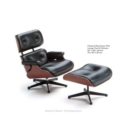 Lounge Chair & Ottoman - Miniatures Collection