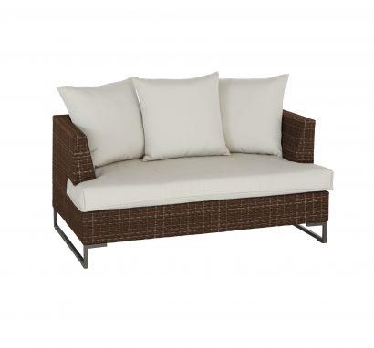 Luxor Sofa 2 Seat Dark Brown