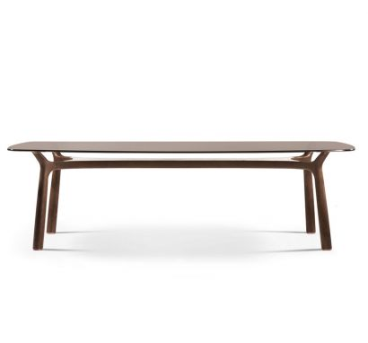 Memos Rectangular Table L. 220 cm - Bronze/Calacatta Gold