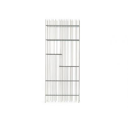 Mogg Metrica Libreria Titanio/Mensole Verdi