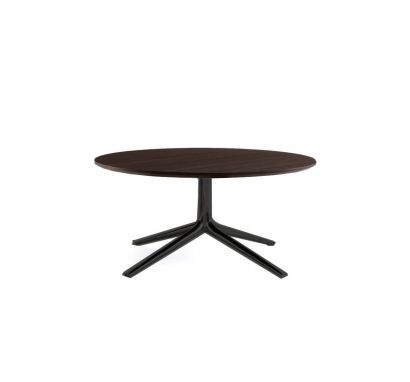 Mondrian Tavolino Rotondo - Brown Nickel Opaco/Rovere Spessart