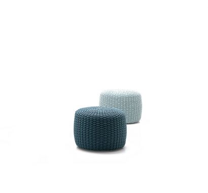 Nido Pouf In Rope Bicolored