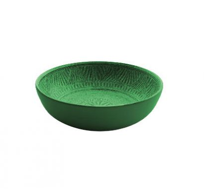 Touch mel - Mono Piatto Fondo Verde Ø 20,4 cm Set. 2 pz