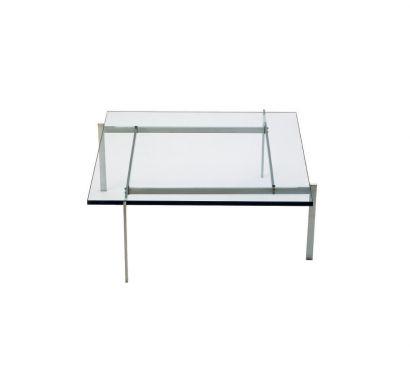 PK61 - Tavolino in metallo 80X80 cm - cristallo