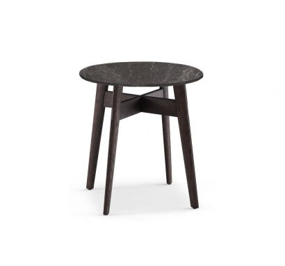 Bigger Round Coffee Table Ø 50 - Top Glossy Stardust