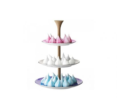 Polka Tiered Cakestand H. 37 Pastel Colours