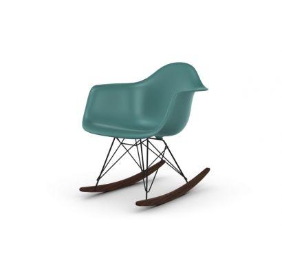 Eames Plastic Armchair RAR Acero Scuro/Oceano - Poltrona a Dondolo