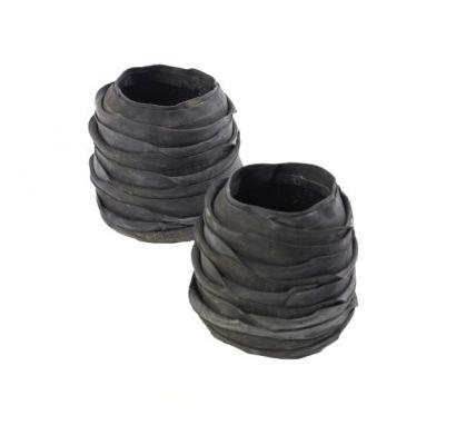 Recycle Pot Set of 2 pcs H. 12/13 cm