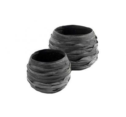 Recycle Vase Set of 2 pcs Ø 26/36 cm - H. 22/26 cm