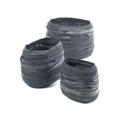 Recycle Oval Vase Set of 3 pcs