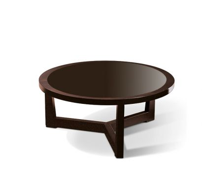 Reverso Round Coffee Table Crystal Glacè