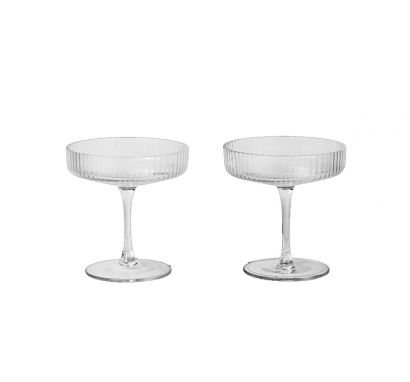 Ripple Champagne Saucers set of 2 - Clear