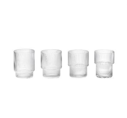 Ripple Glass Verre Set de 4 pcs - Clair