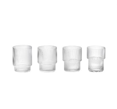 Ripple Glass Set of 4 pcs - Clear