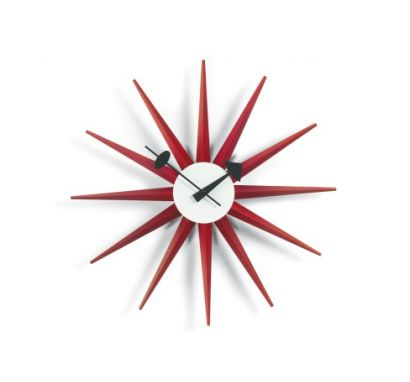 Sunburst Clock  Rosso