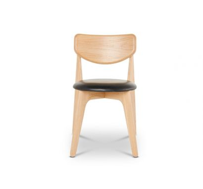 Slab Chair - Leather Upholstered