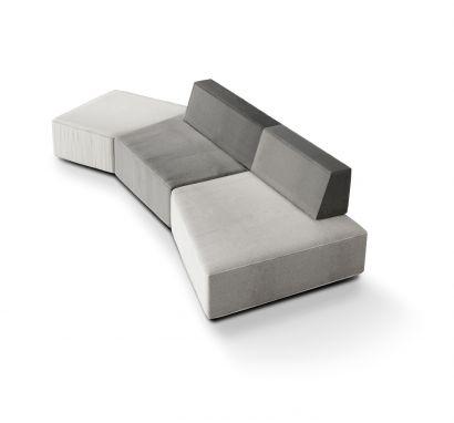 Slide - Modular fabric sofa