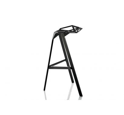 Stool One - Sgabello Alto Nero