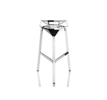Stool One - Medium Aluminium