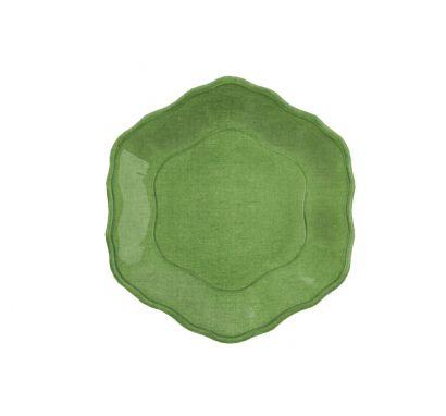 Touch Mel - York Piatto Dessert Verde Set da 4 pz Ø 24 cm