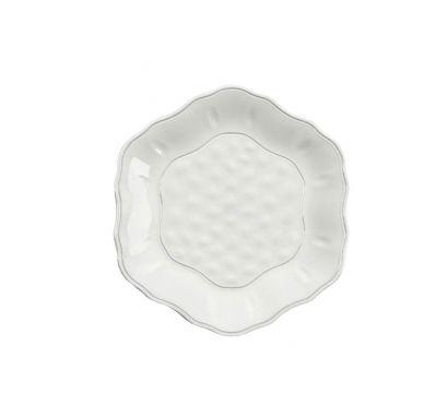 Touch Mel - York Piatto Dessert Bianco Set da 4 pz Ø 24 cm