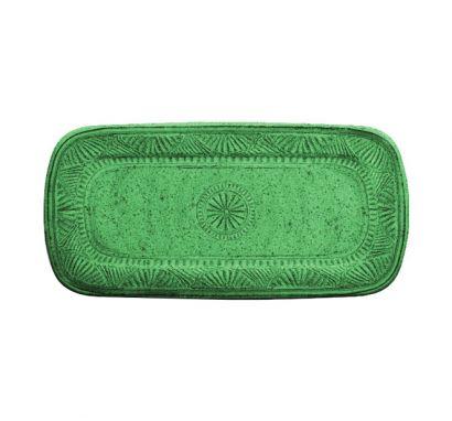Touch mel - Mono Vassoio Rettangolare Verde L. 43 cm - P. 21 cm