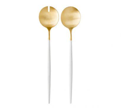 Goa White Matte Gold Set da Insalata