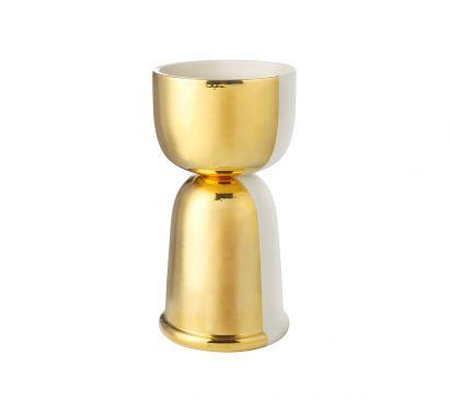 Clessidra Double-face Gold Vase Ø 19 cm - H. 37 cm