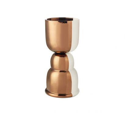 Clessidra Double-face Copper Vase Ø 19 cm - H. 40 cm