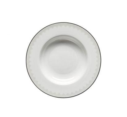 Jade Rendezvous Plate Deep with Rim Ø 23 cm