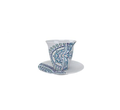 The White Snow Luminarie Cup with Saucer Ø 9 cm