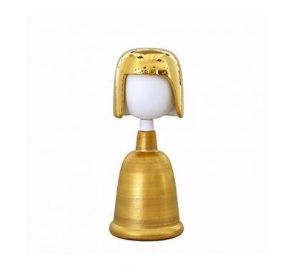 Bambole Decorative Ceramic Matilde Gold H. 33 cm