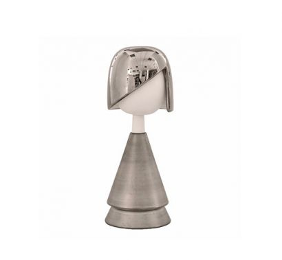 Bambole Decorative Ceramic Anita Platinum H. 33 cm