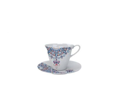 The White Snow Luminarie Tea Cup with Saucer Ø 9 cm