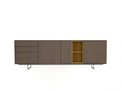 Aura Sideboard - Natural Walnut/Ochre
