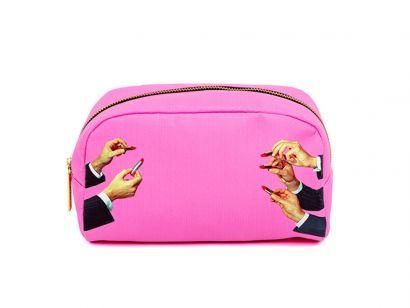Lipstick Pink Cosmetic Bag