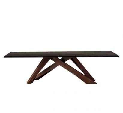 Big Table - Rovere Spazzolato Grigio Antracite - Gambe Corten L. 220