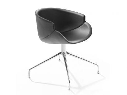 Bix swivel chair leather b-line