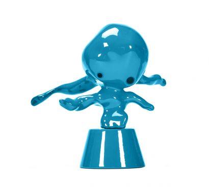 Momonster Blue Chute Statuette Décorative
