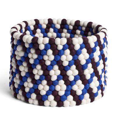 Bead Basket - Burgundy Basket Weave - Ø. 40 cm - H. 27 cm