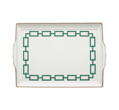 Catene Smeraldo Tray with Handles L. 31,5 cm - P. 22,5 cm