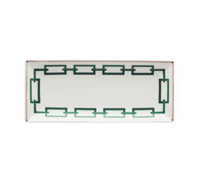 Catene Smeraldo Rectangular Tray L. 28 cm - P. 12 cm