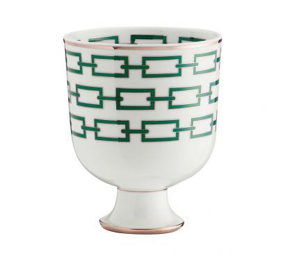 Catene Smeraldo Gio Cachepot Vase H. 19 cm