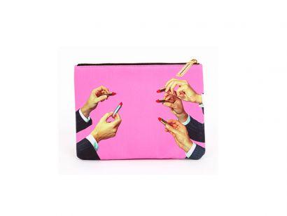 Lipstick Pink Beauty Case - L. 21 cm - H. 15,5 cm