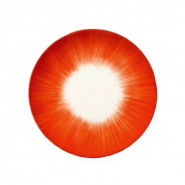 Dè Plate Ø. 17,5 cm Off-White/Red Var 5